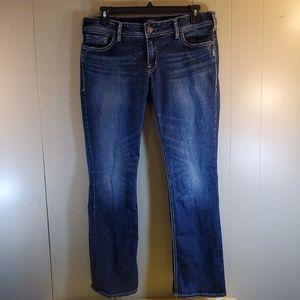 Silver Elyse Slim Boot Jeans